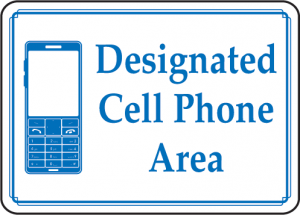 designated cell phone area graphic