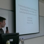 Photo of John McCarthy presenting at Chung Shan Medical University