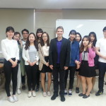 Photo of John McCarthy with CSD students at Hallym University