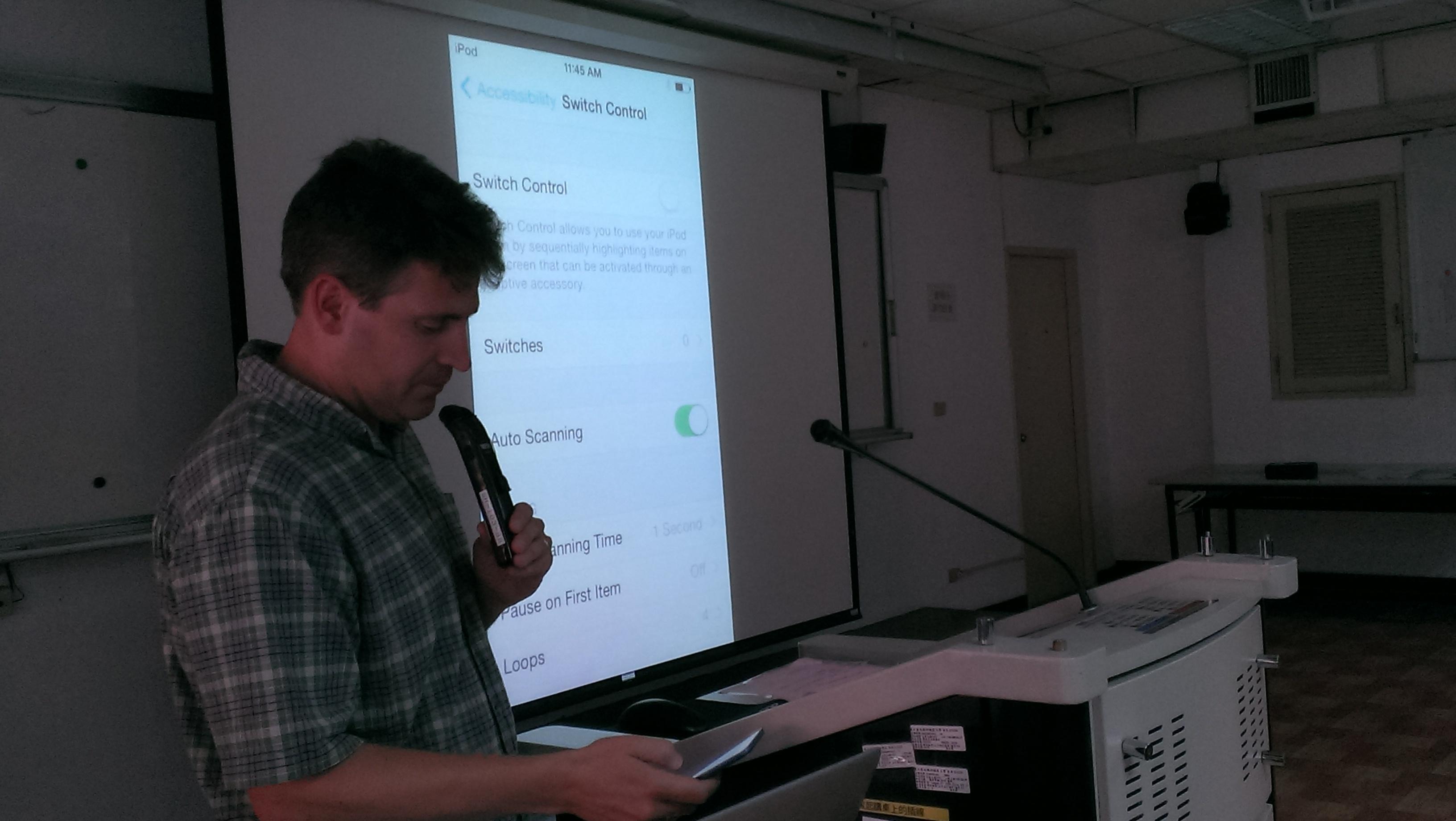 Photo of John McCarthy at the NTUNHS Workshop