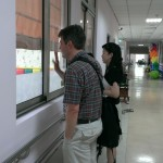 Photo of John McCarthy at Love Home-Maria Social Welfare Foundation in Taichung, Taiwan with Iris Lee, SLP